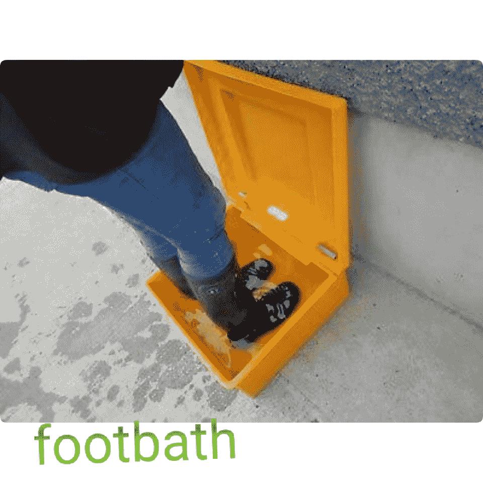 foot bath sanitizing boot